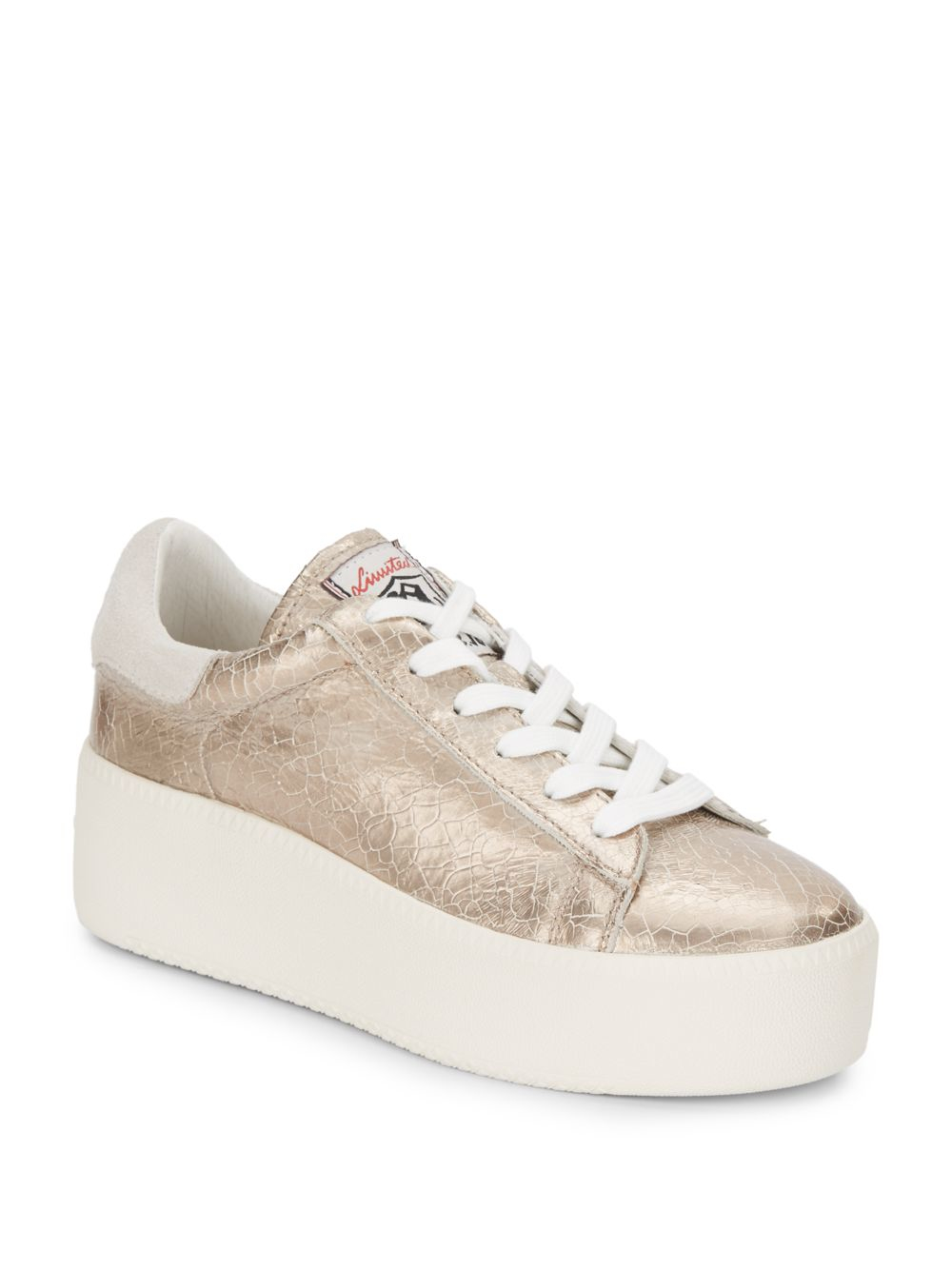 40fcf78f5d15 Lyst - Ash Cult Metallic Leather Platform Sneakers in Natural