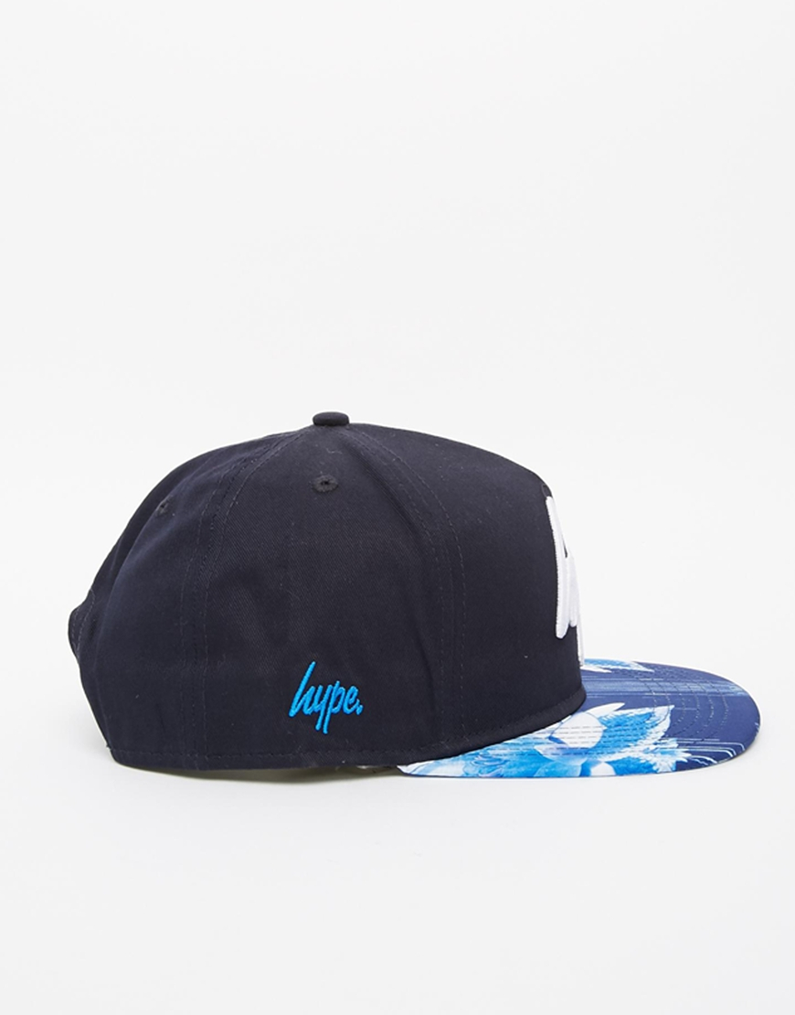 0c4e6b09cd5850 Lyst - Hype Floral Drips Snapback Cap in Blue for Men