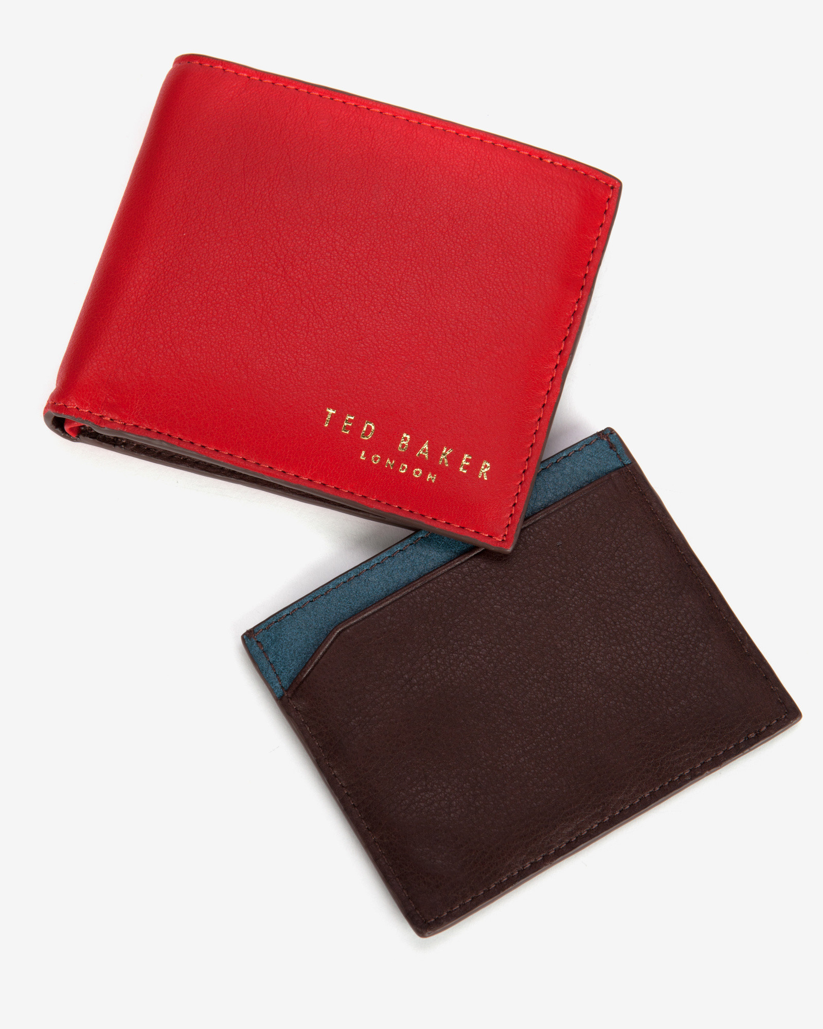 e32b0df5644556 Lyst Ted Baker Coloured Wallet Gift Set In Red For Men. Ted baker alaniy  crosshatch matinee ...