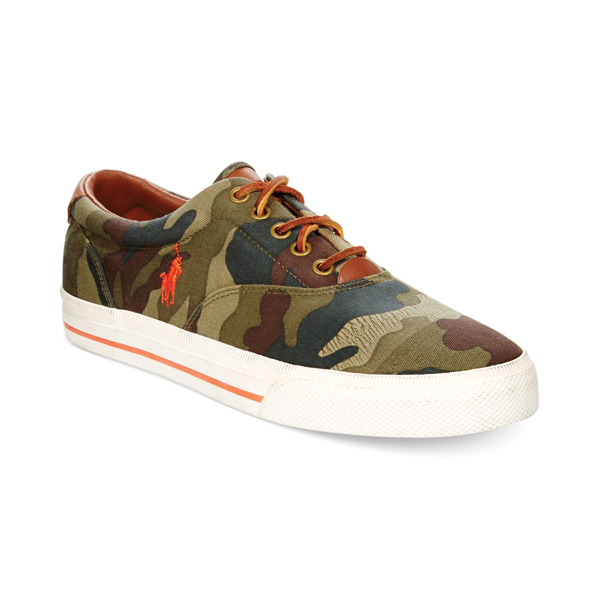 ralph lauren polo vaughn camo sneakers in green for men lyst. Black Bedroom Furniture Sets. Home Design Ideas