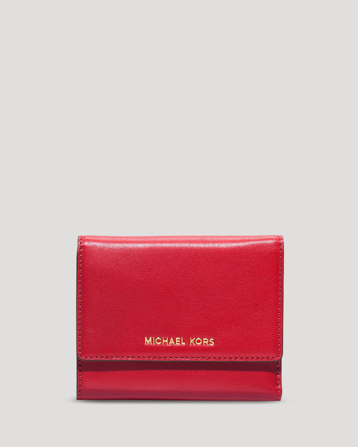 33d74c5c5207 Lyst - MICHAEL Michael Kors Wallet - Colby Medium Tri-Fold in Red