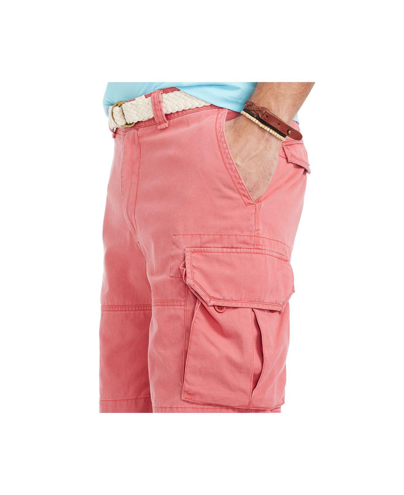 Red cargo shorts trendy clothes for Ralph lauren khaki paint