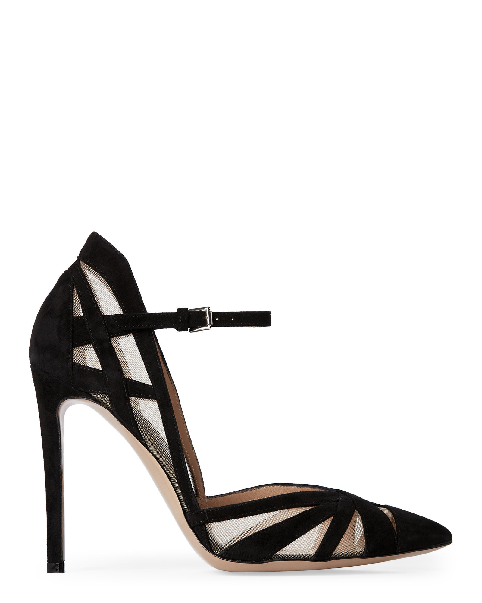 1309be88f2 Gianvito Rossi Black Cutout Ankle-Strap Pumps in Black - Lyst