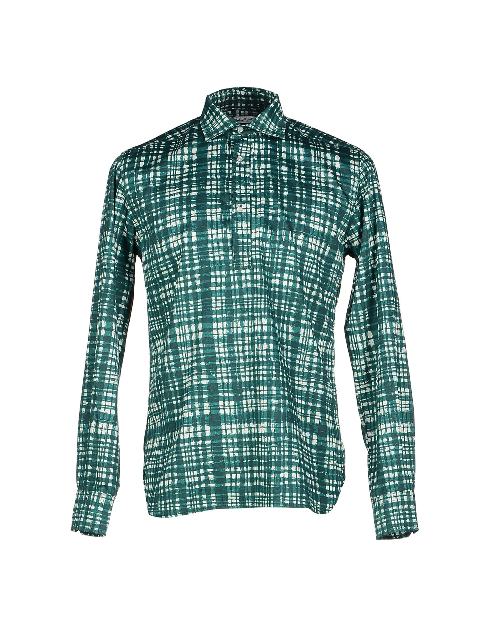 Alain shirt in green for men lyst Emerald green mens dress shirt