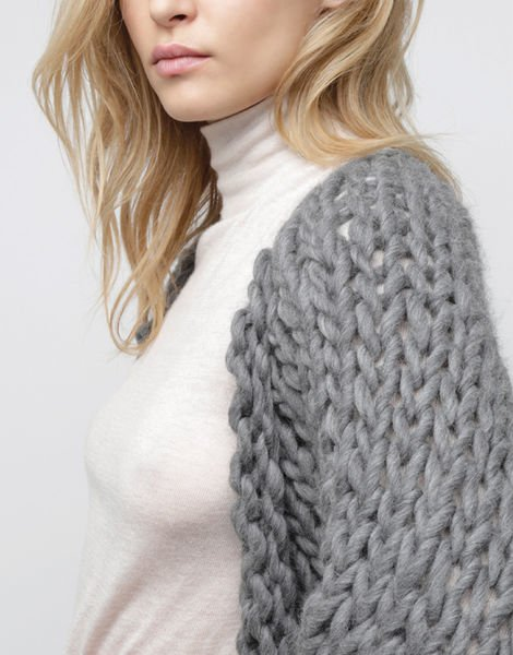 wool and the gang fearless cardigan in gray lyst. Black Bedroom Furniture Sets. Home Design Ideas