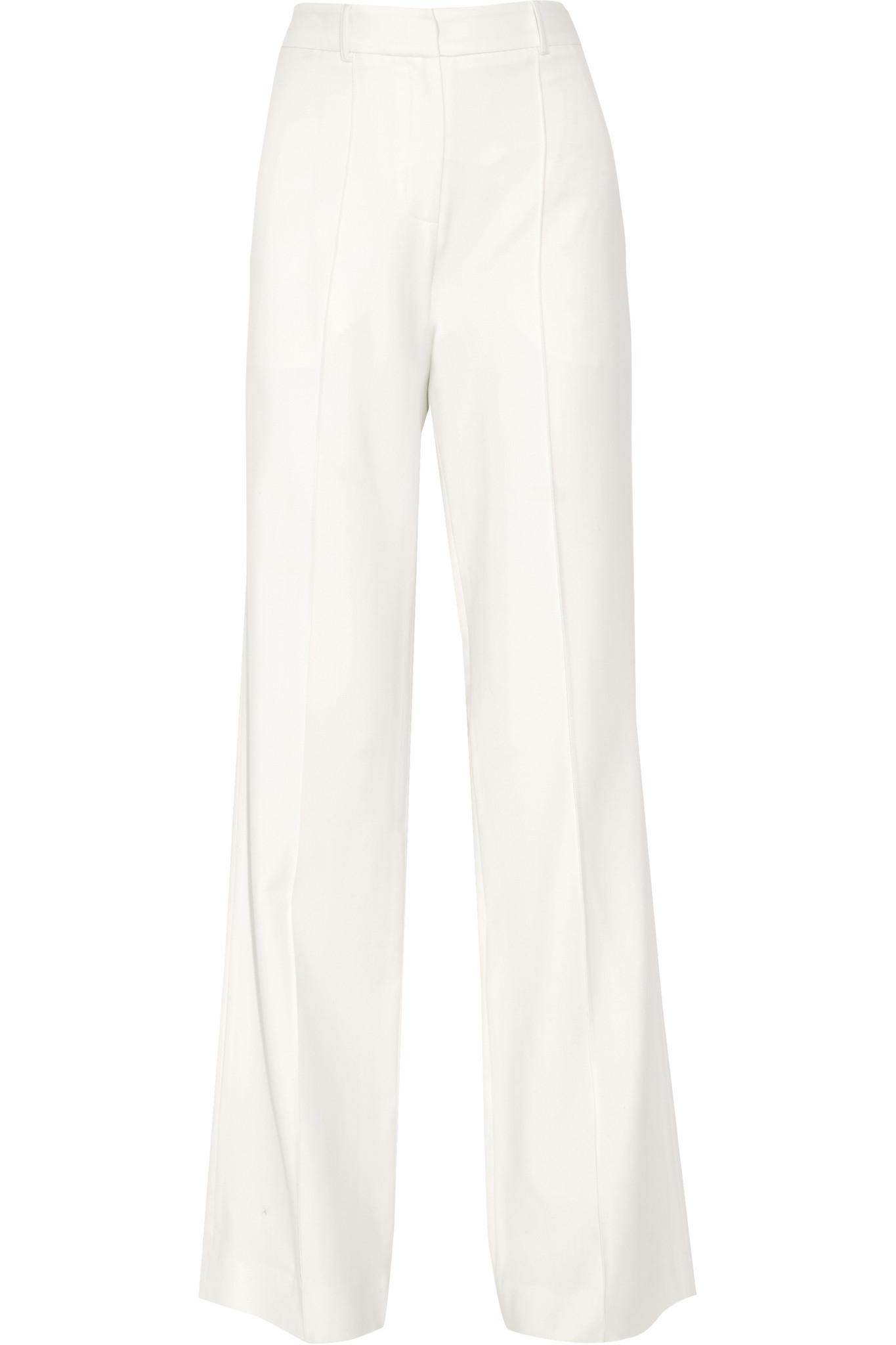 Adam lippes Stretch Wool-blend Wide-leg Pants - Save 16% | Lyst
