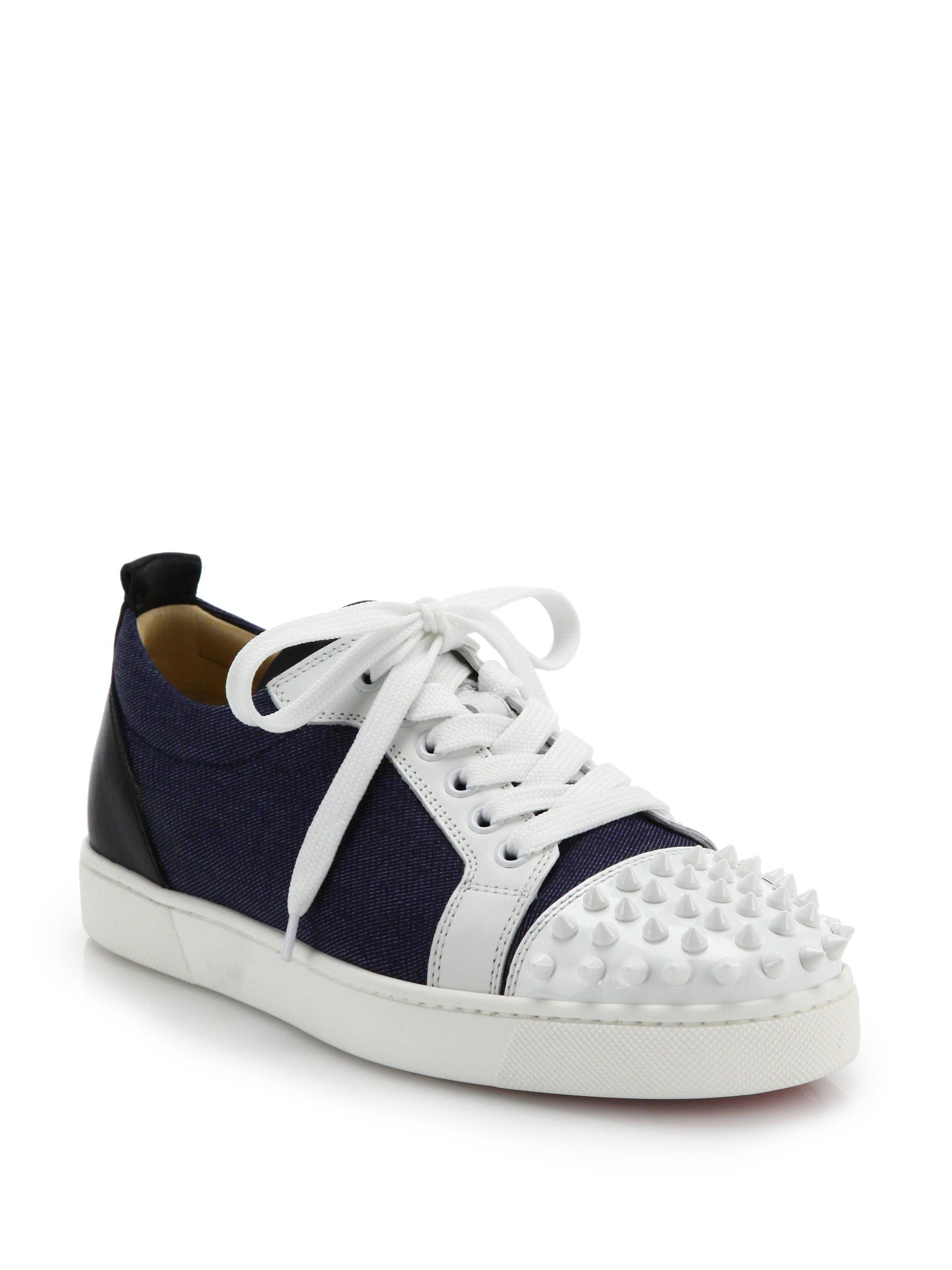 christian louboutin denim sneakers
