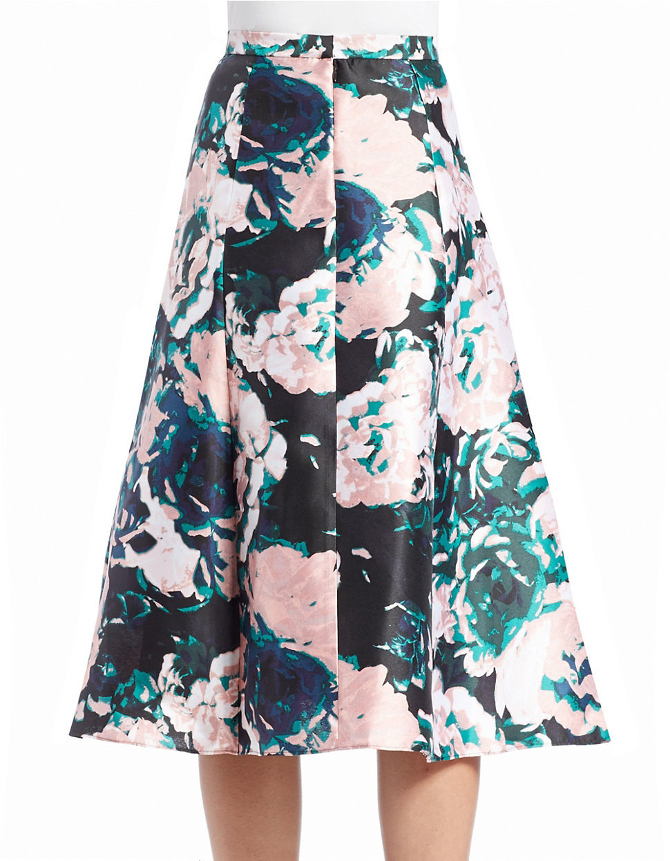 Adrianna papell Floral-print A-line Skirt | Lyst