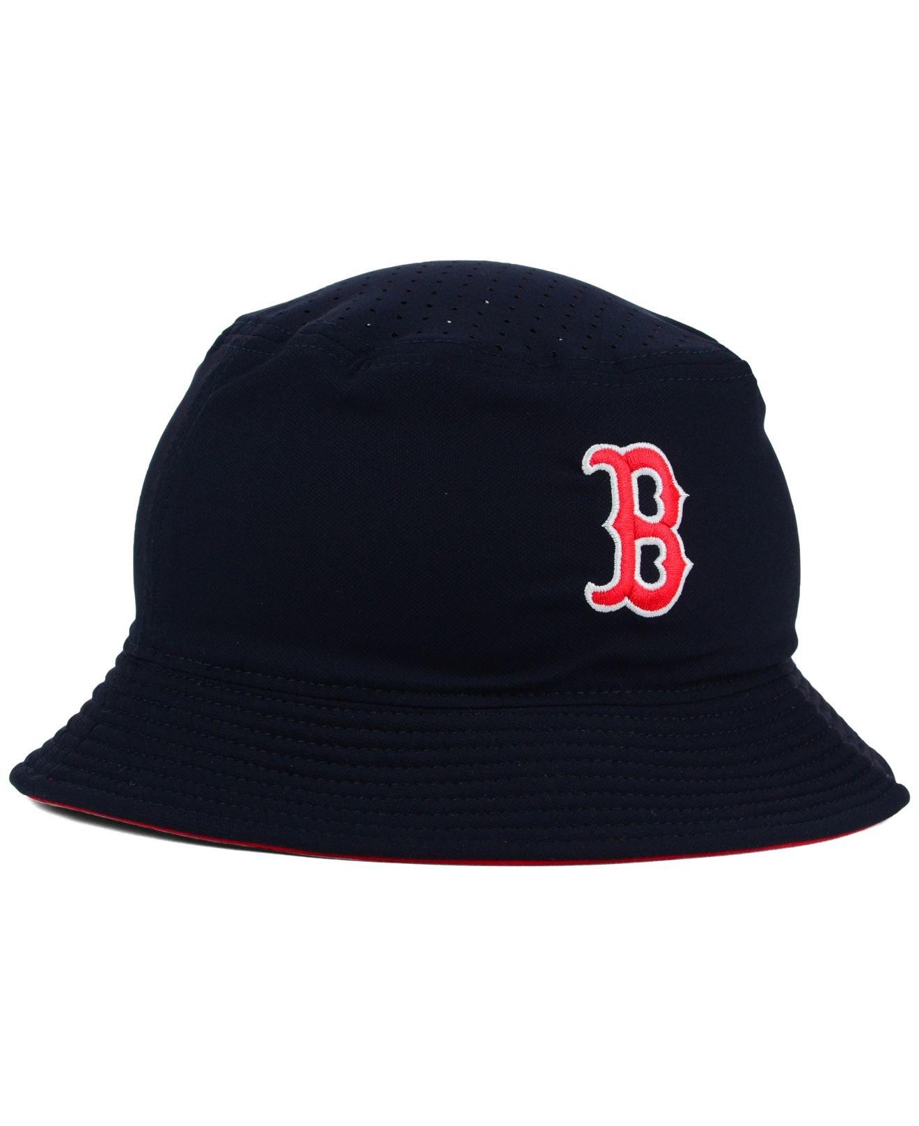 dced5d77763 ... norway lyst nike boston red sox vapor dri fit bucket hat in blue for men  3955b