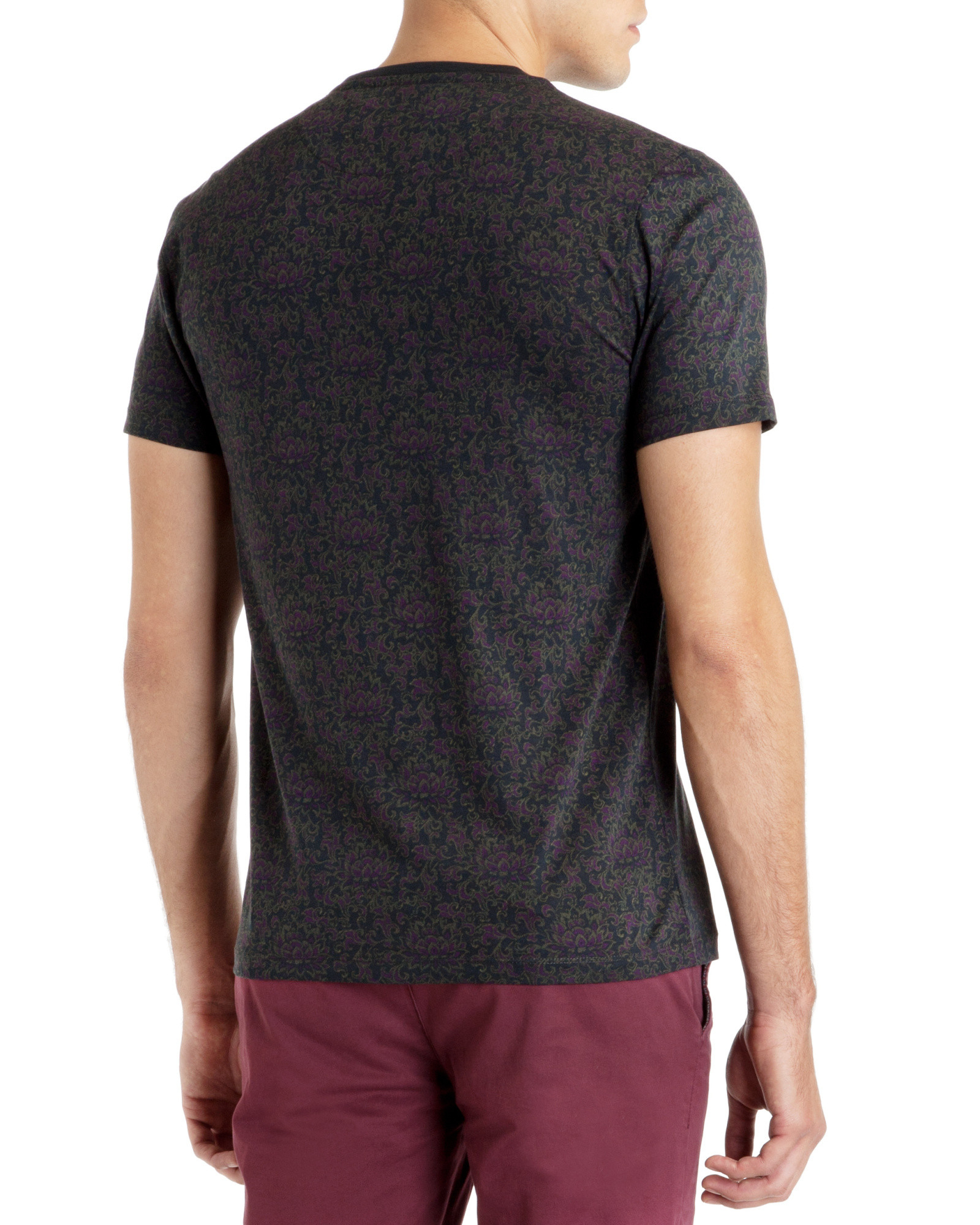 Ted baker short sleeve all over printed t shirt in blue for All over print t shirt