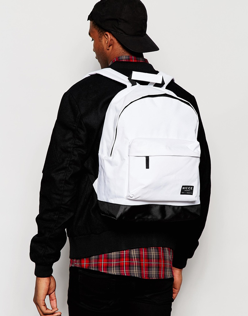 336214627448cb Lyst - Nicce London Nicce Logo Backpack In White in White for Men