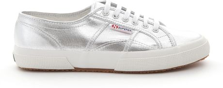 superga silver sneakers in silver for men lyst. Black Bedroom Furniture Sets. Home Design Ideas