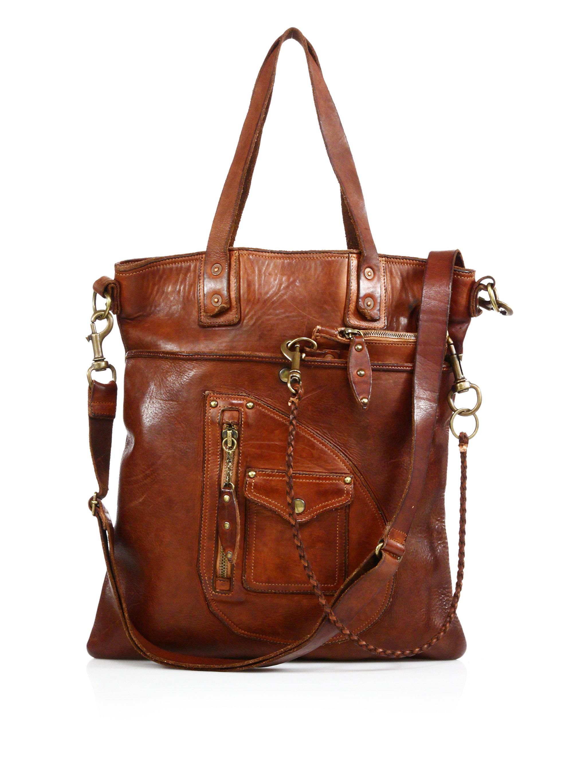 Polo Ralph Lauren. Men\\u0026#39;s Brown Distressed Leather Messenger Bag