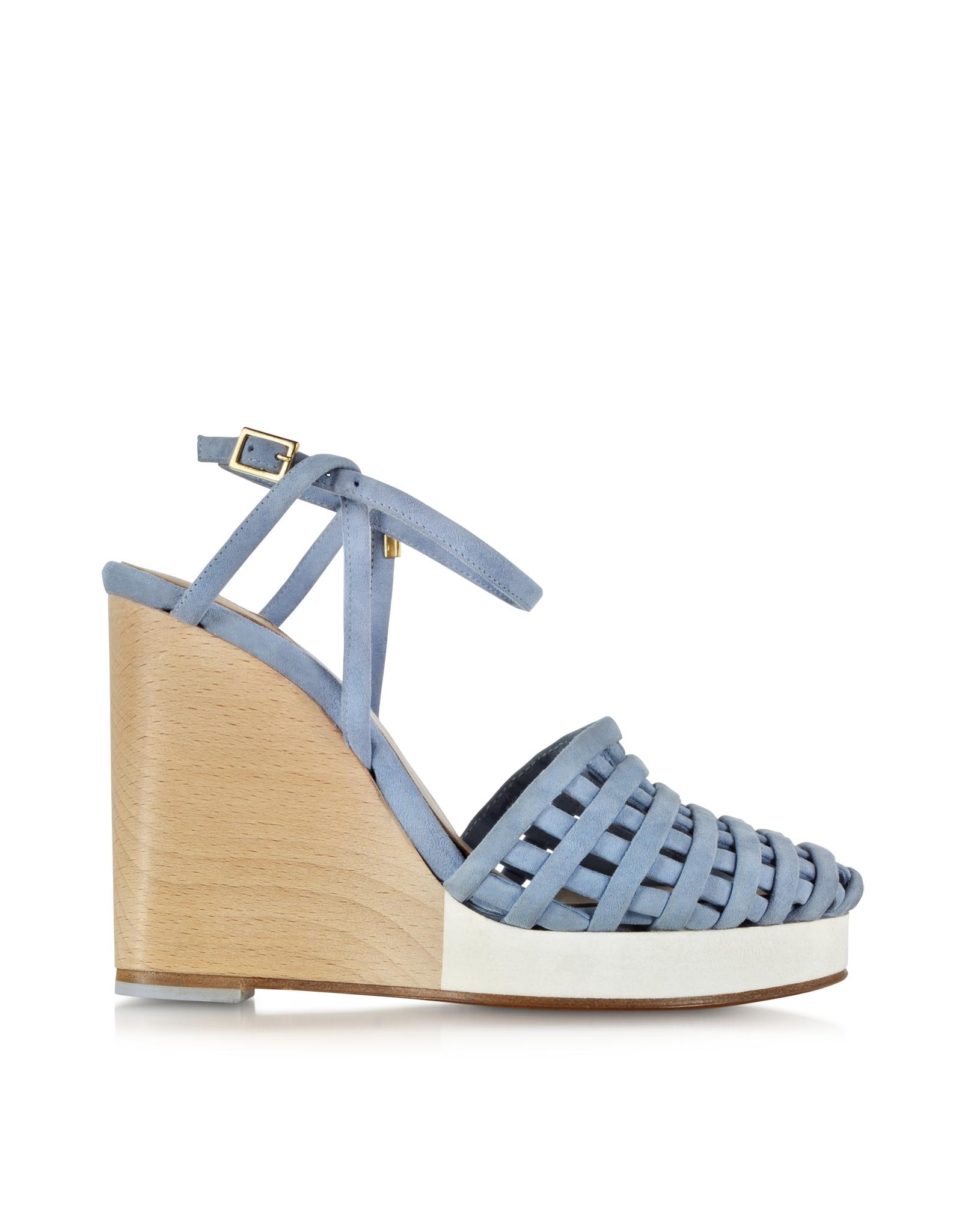 Light Blue Wedge Heels