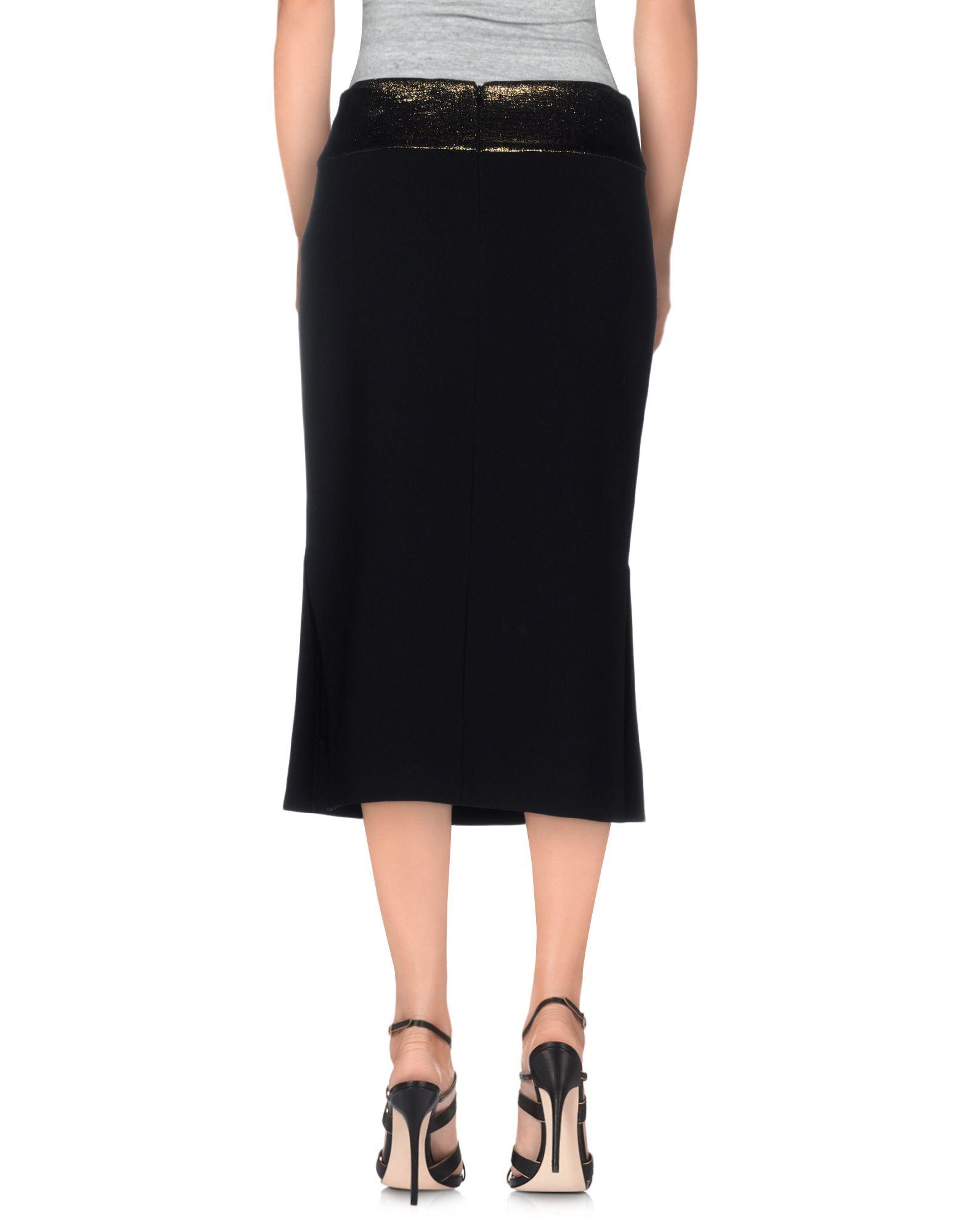 diane furstenberg knee length skirt in black lyst