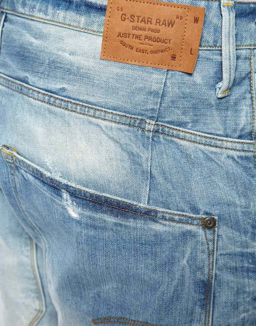 G Star Raw G Star Jeans Type C 3d Loose Tapered Light Aged