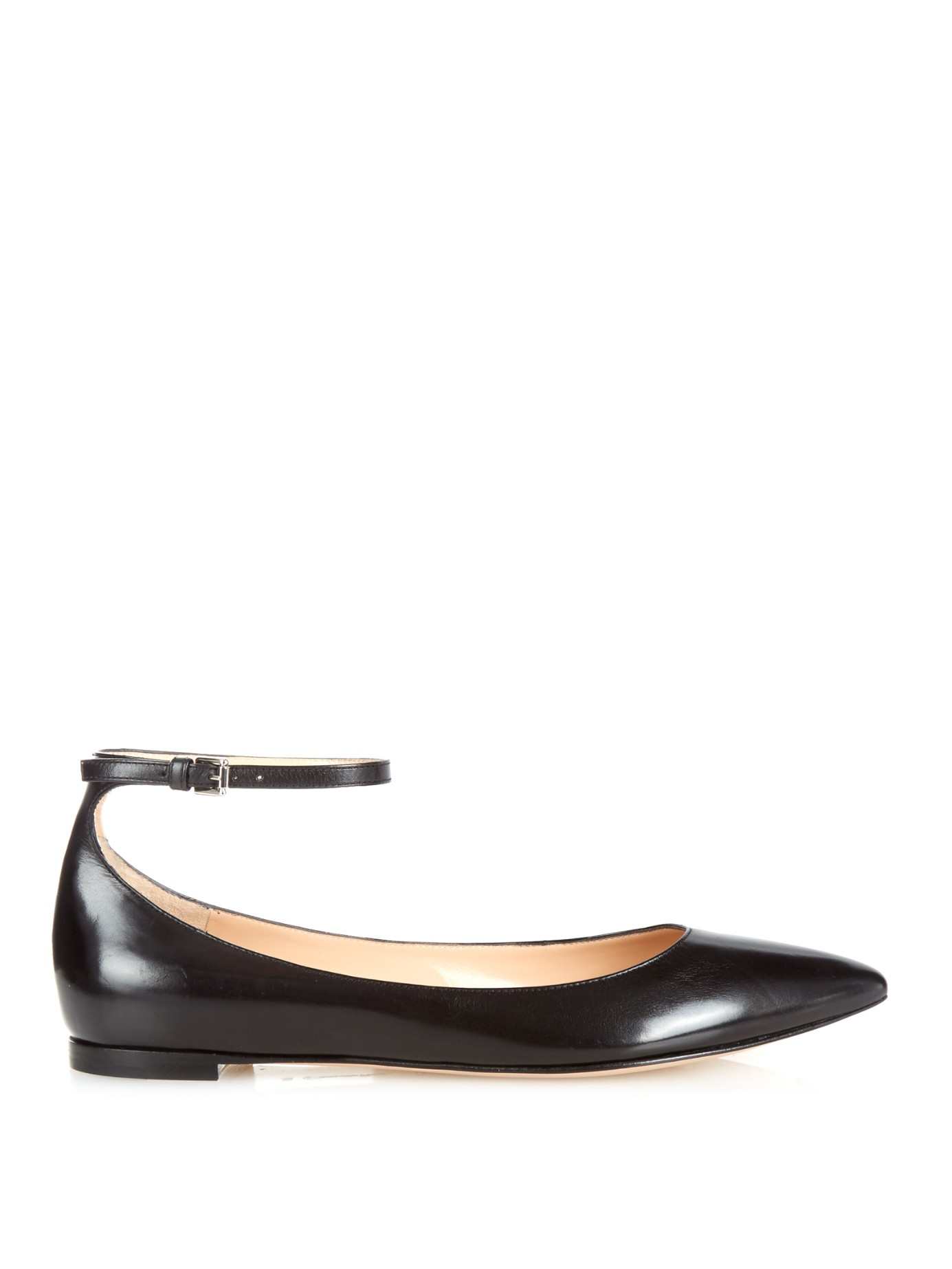 Gianvito Rossi Leather Ballet Flats BE5n76w4