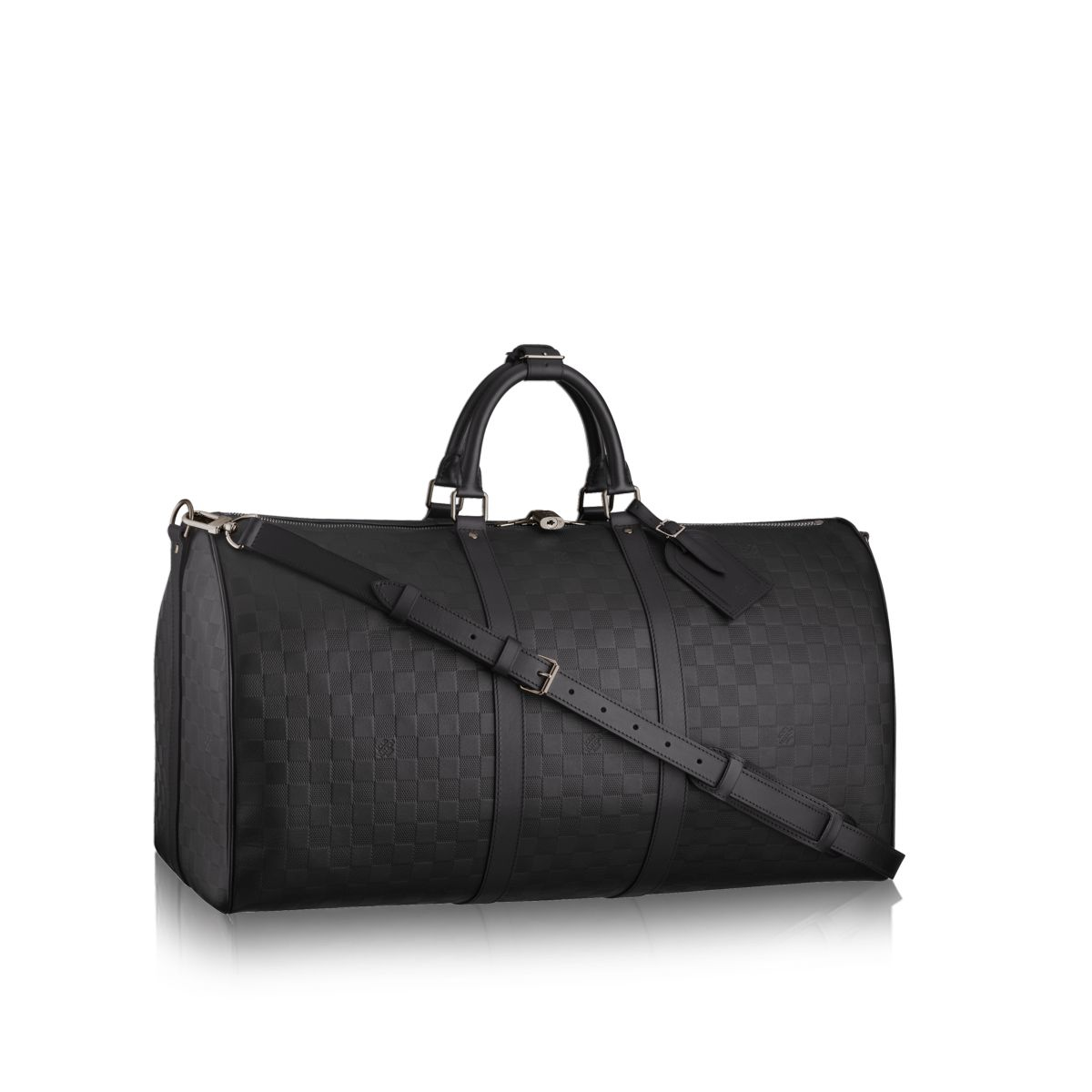 louis vuitton keepall 55 bandouli re in black for men lyst. Black Bedroom Furniture Sets. Home Design Ideas
