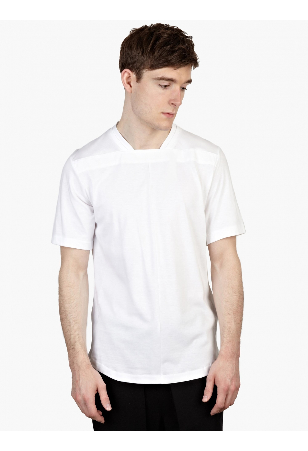 Public school men s white cotton t shirt in white for men for Mens white cotton t shirts