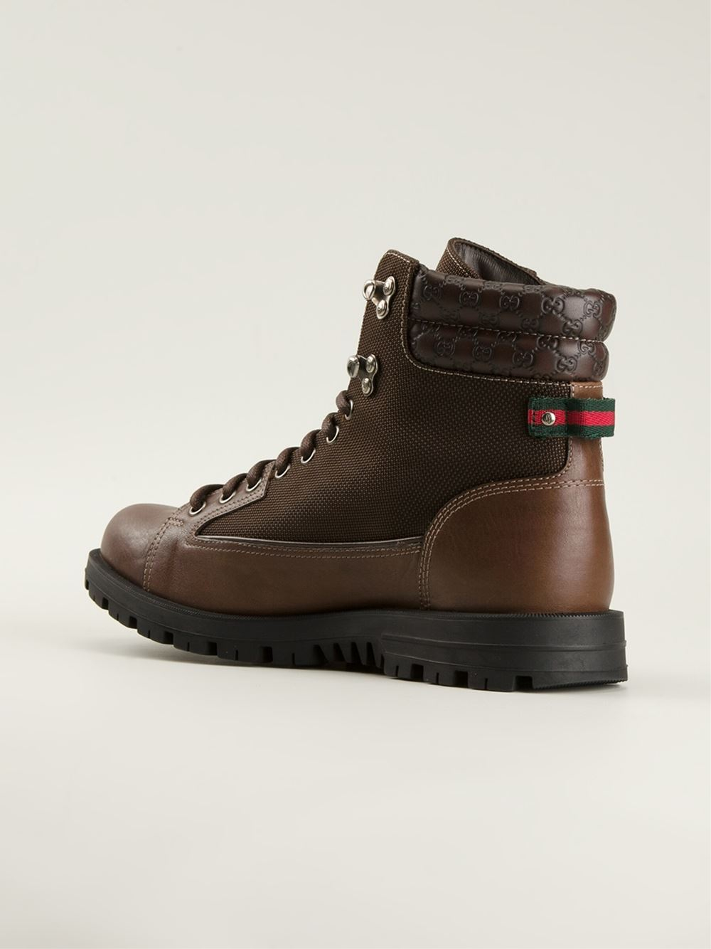 Lyst Gucci Military Style Boots In Brown For Men