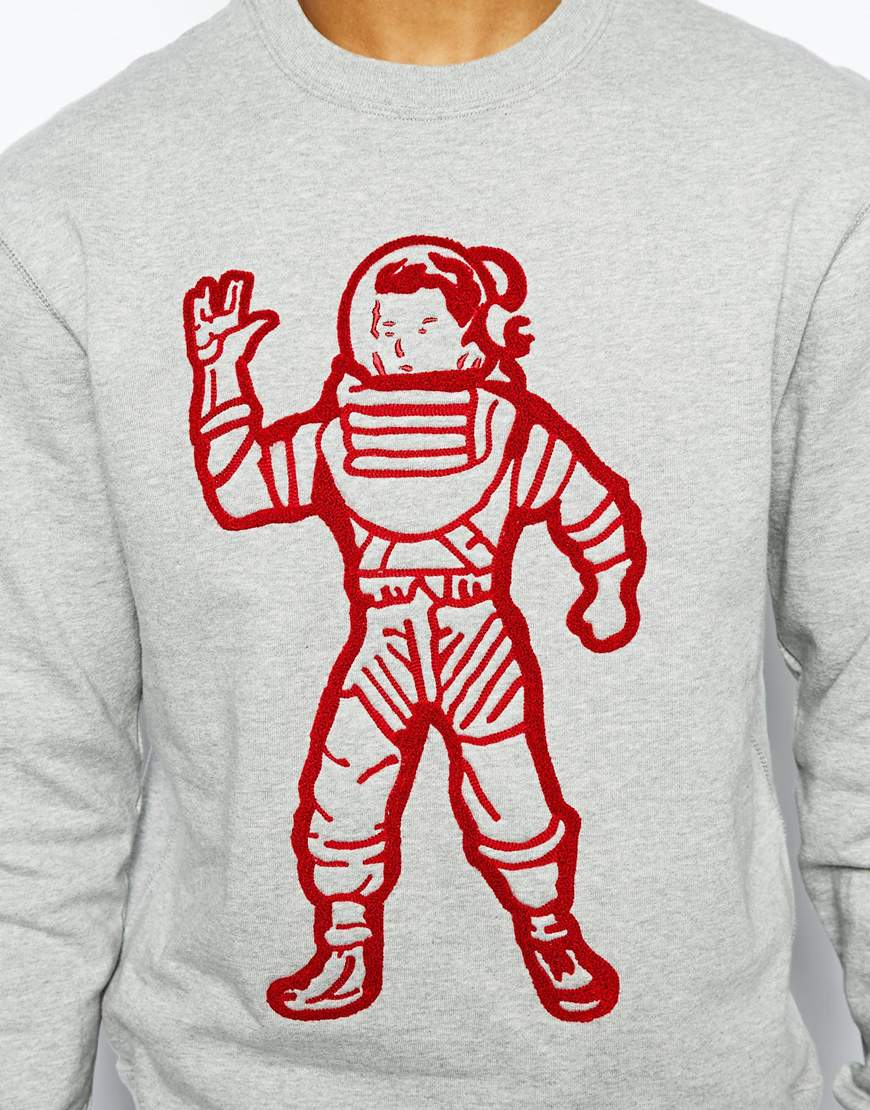 Lyst Bbcicecream Sweatshirt With Astronaut Print In Gray For Men
