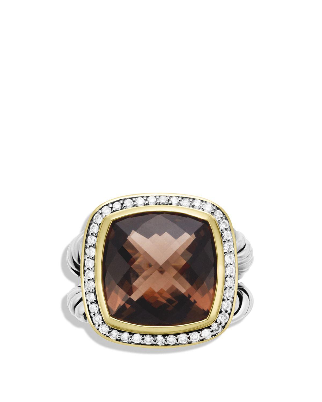 david yurman albion ring with smoky quartz diamonds and