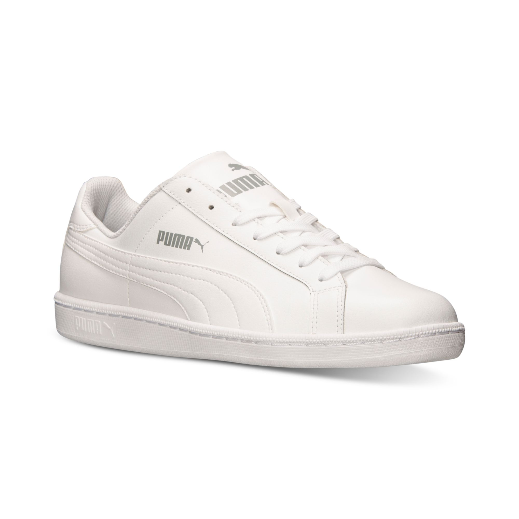 Puma Mens Smash Leather Casual Sneakers From Finish Line In White For Men Lyst