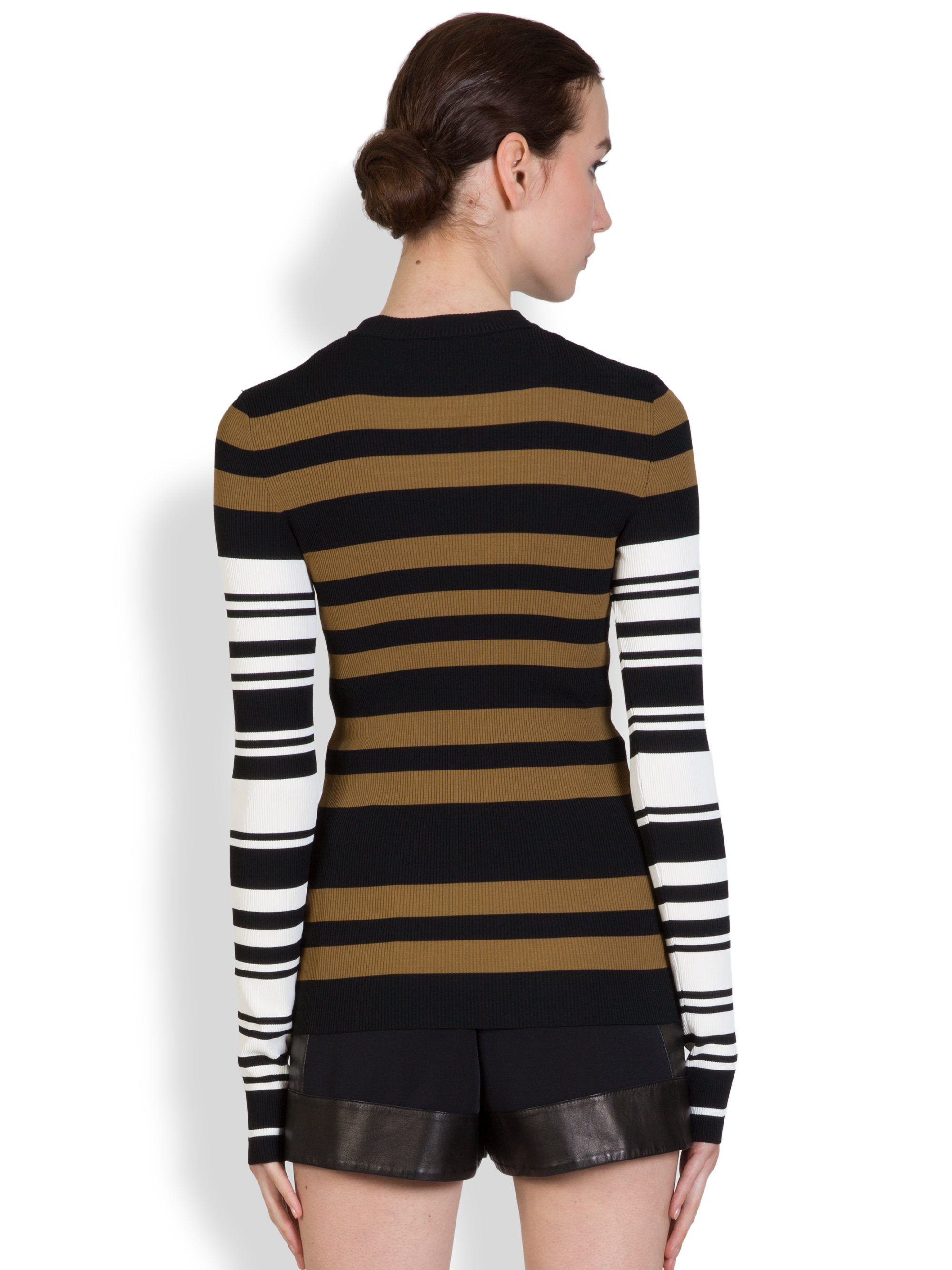 givenchy multi stripe sweater lyst. Black Bedroom Furniture Sets. Home Design Ideas