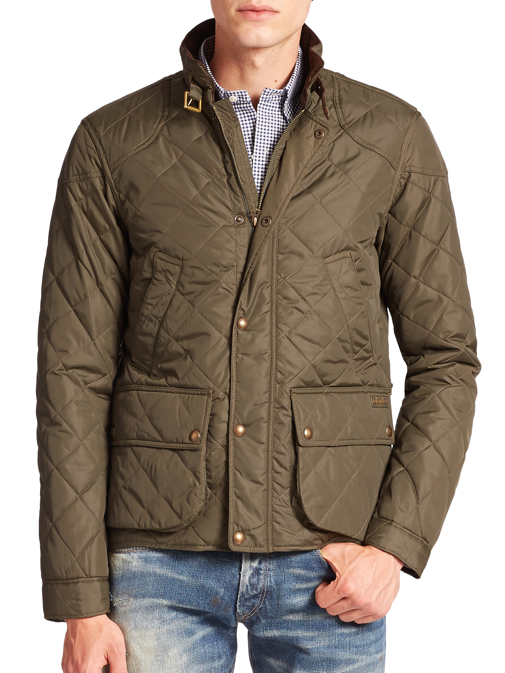 Pebble Beach Polo >> Polo ralph lauren Cadwell Quilted Bomber Jacket in Green for Men (olive) | Lyst