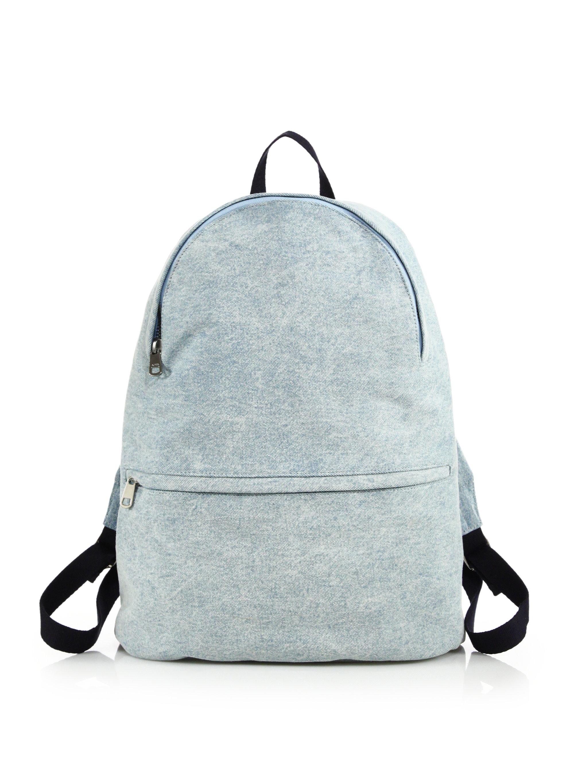 Lyst A P C Washed Denim Backpack In Blue For Men