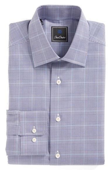 Lyst David Donahue Regular Fit Plaid Dress Shirt In Blue