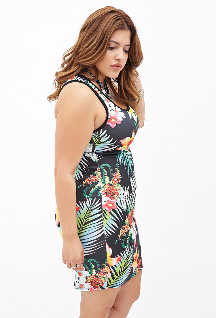 Floral bodycon dress forever 21
