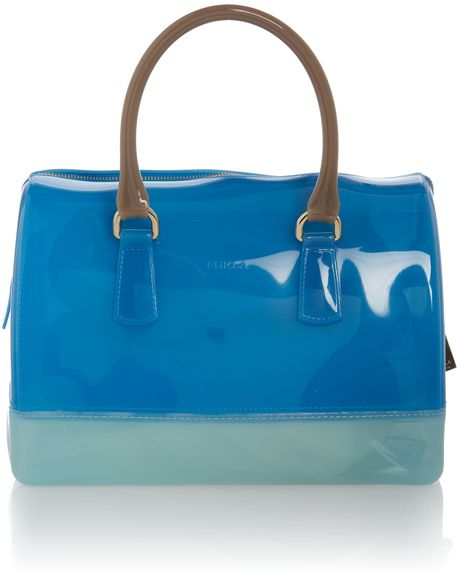 Furla Candy Blue Bowling Bag in Blue