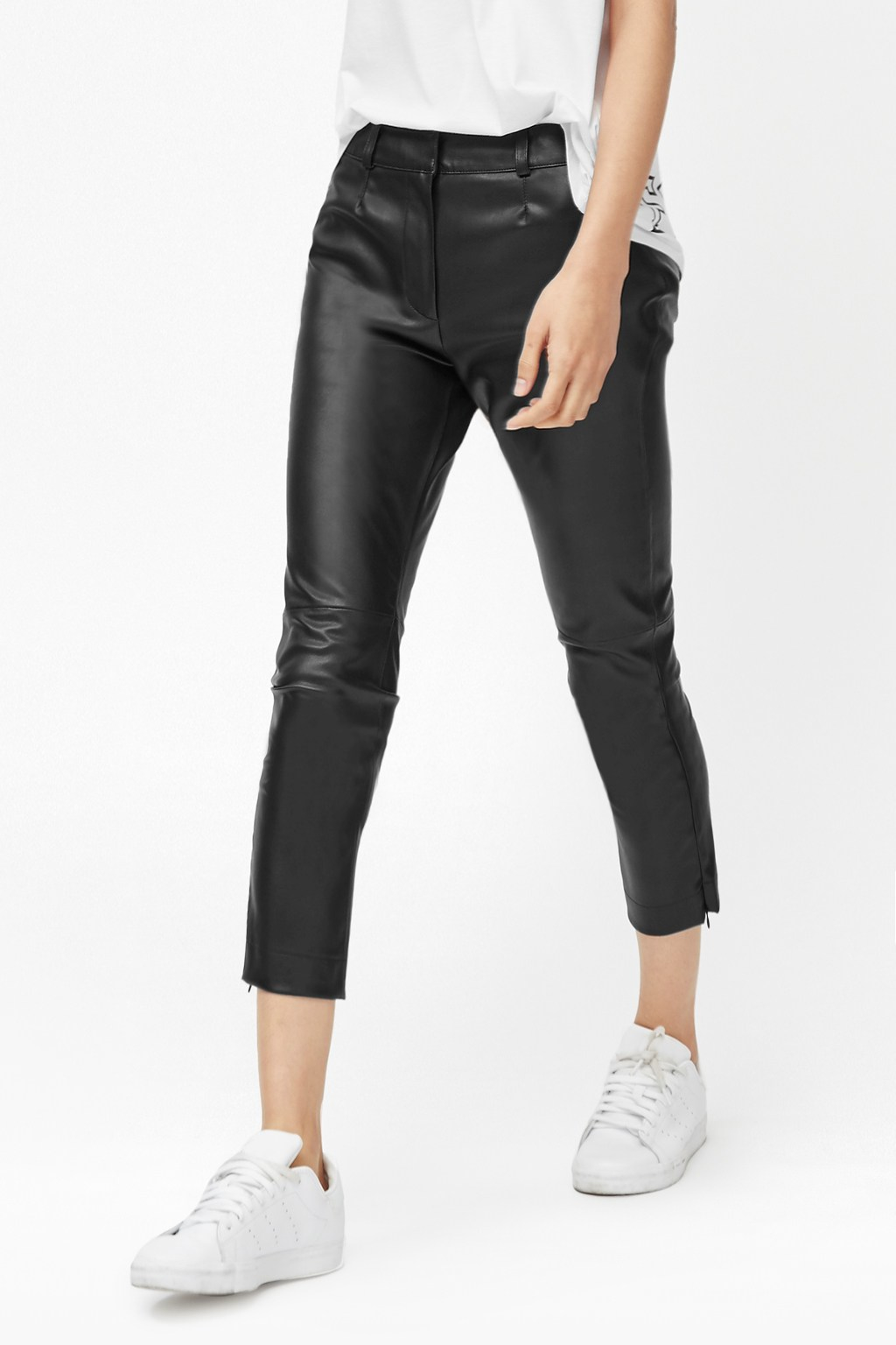 5b185276fb3 Gallery. Women's Black Leather Trousers Women's Faux Leather Trousers