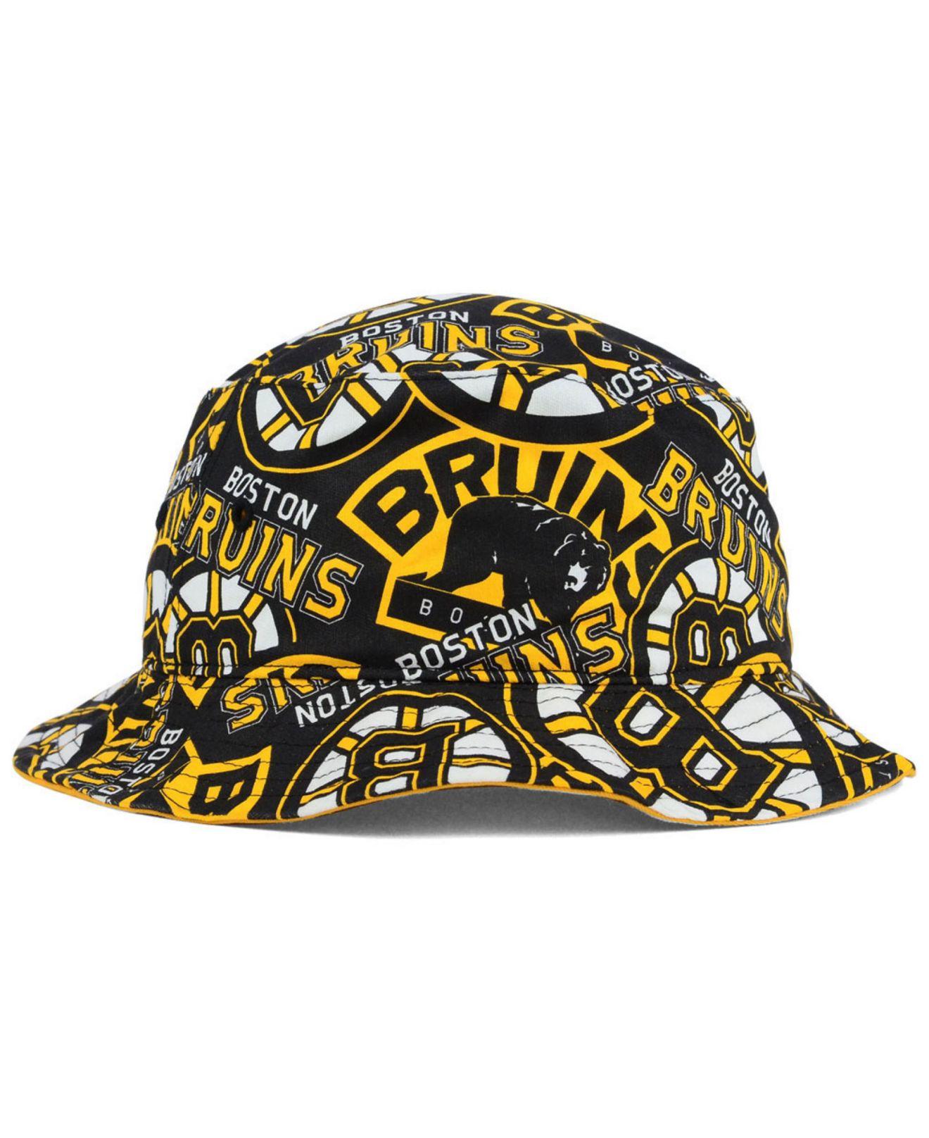 933c9a0a lyst 47 brand boston bruins bravado bucket hat in black for men