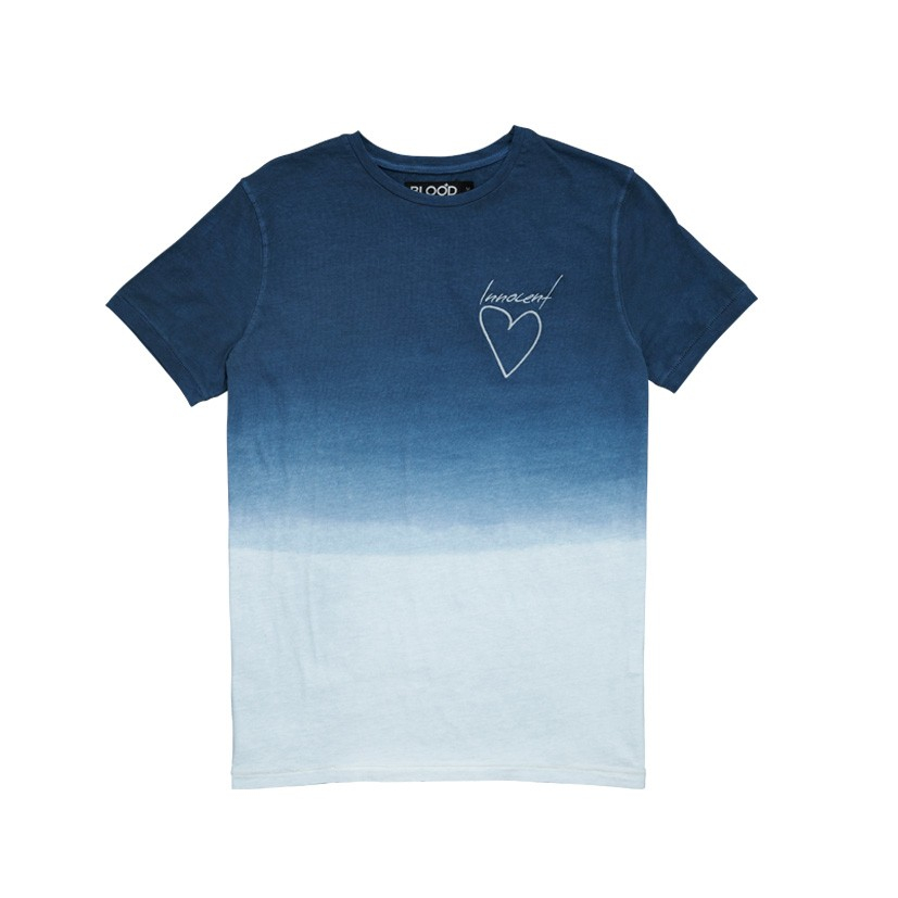 Blood brother mens innocent dip dye blue t shirt in blue for Mens dip dye shirt