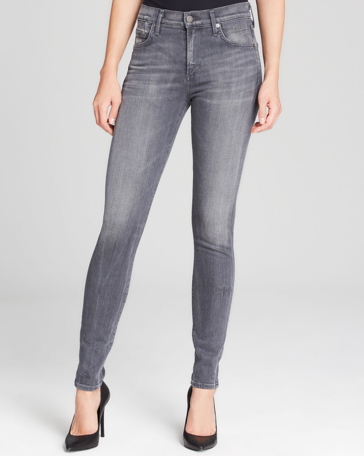 Lyst - Citizens of humanity Jeans - Rocket High Rise Skinny In Cinder in Gray