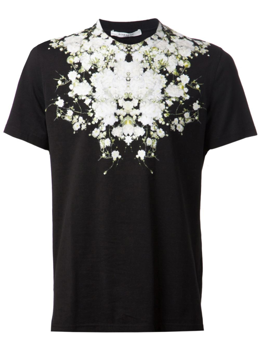 Givenchy floral print t shirt in black for men lyst for Givenchy t shirt man