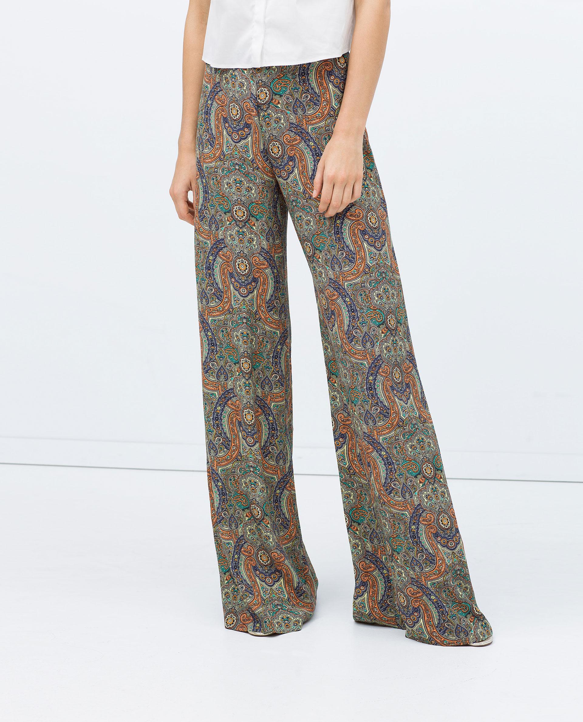 Amazing Zara Wideleg Studio Trousers In Black  Lyst
