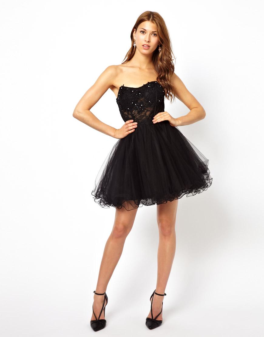 Forever Unique Embellished Prom Dress In Black Lyst