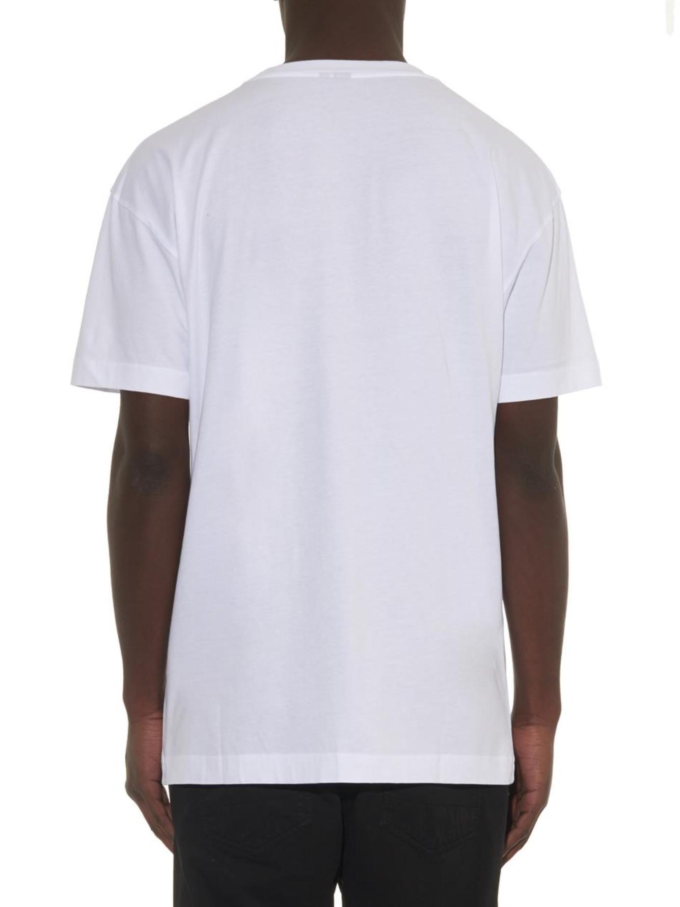 Lyst Mcq Skinhead Print Extra Long T Shirt In White For Men