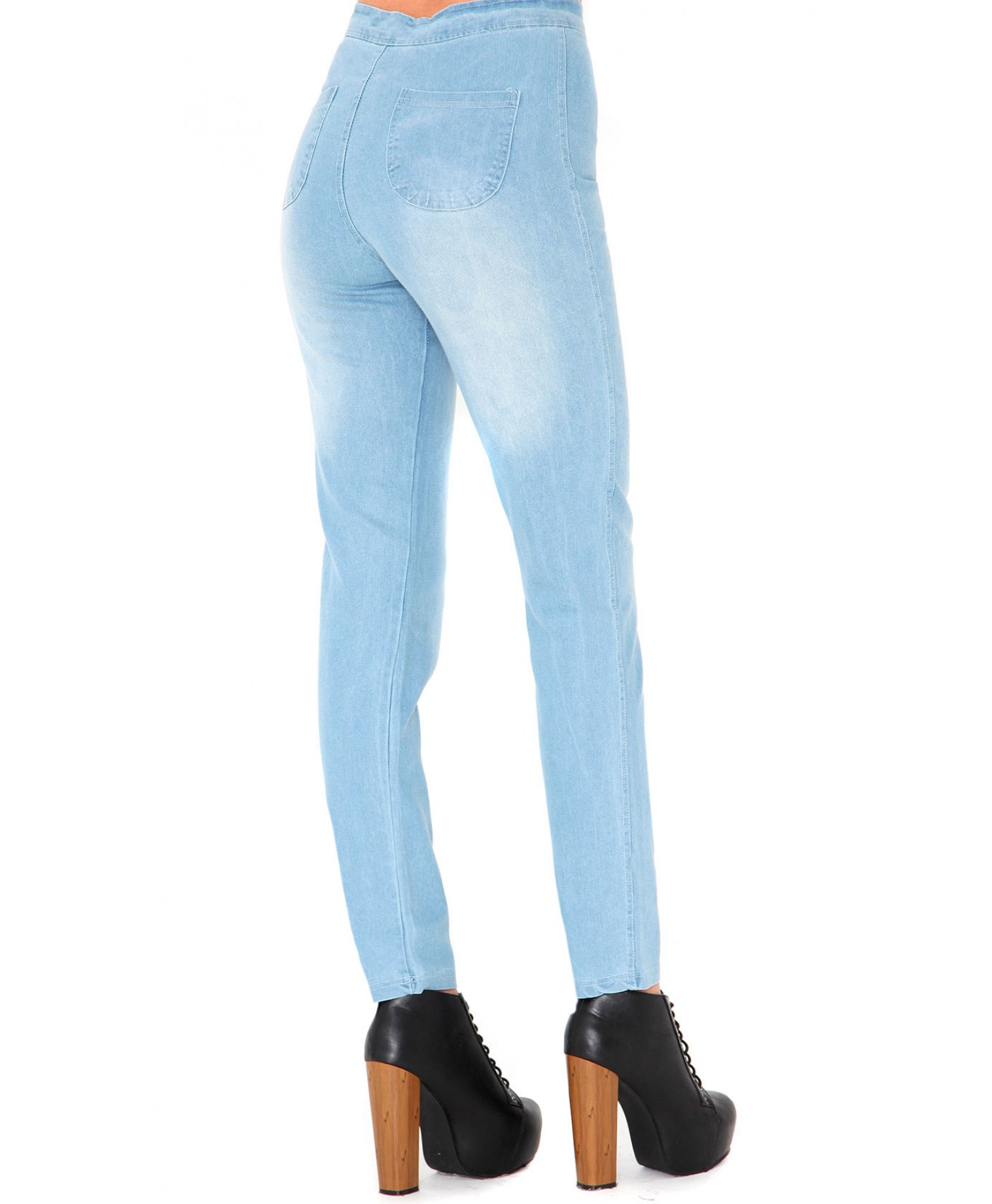 Missguided Madalena High Waisted Skinny Jeans In Light Vintage in ...