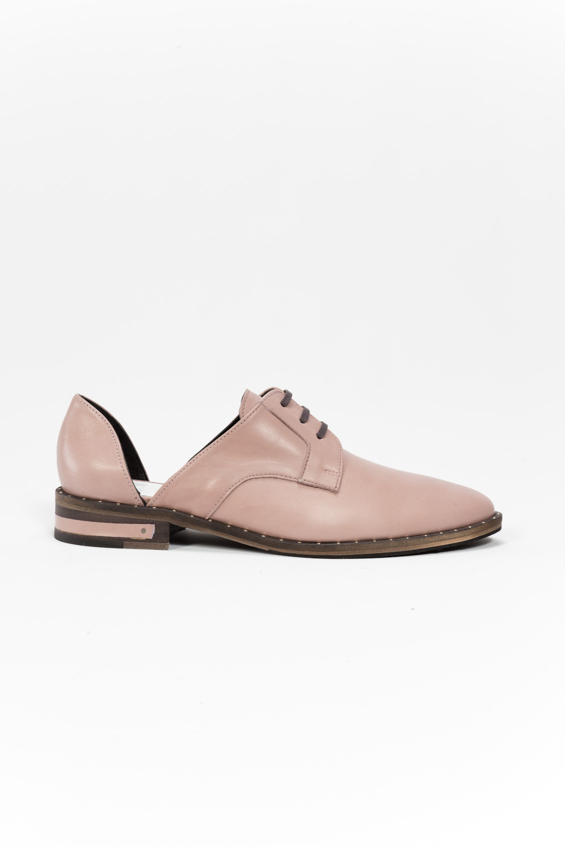 frēda salvador wit leather oxford shoes in pink lyst
