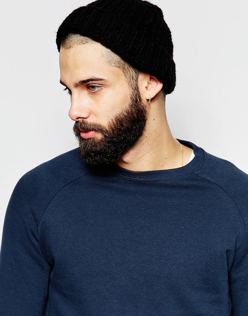 Lyst - ASOS Chunky Fisherman Beanie In Black in Black for Men b75aee2ea9b