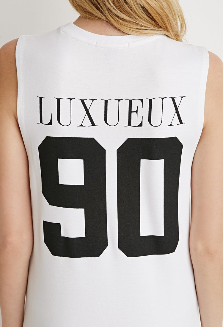a0359bb1c189 Forever 21 Modern Graphic T-shirt Dress in White - Lyst