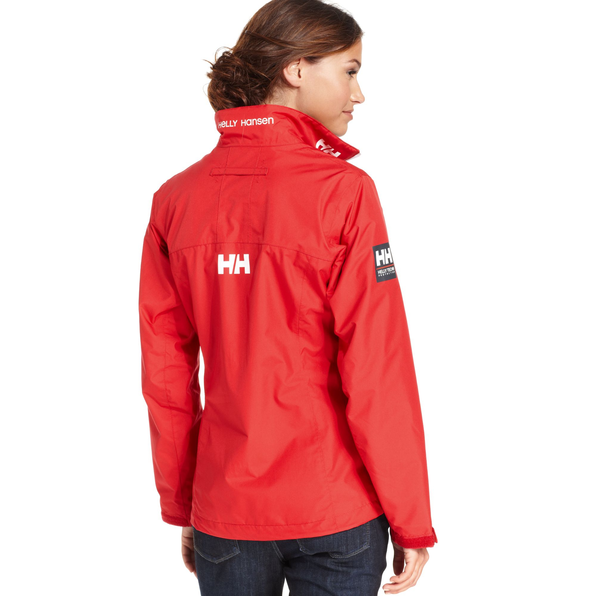 lyst helly hansen crew waterproof jacket in red. Black Bedroom Furniture Sets. Home Design Ideas