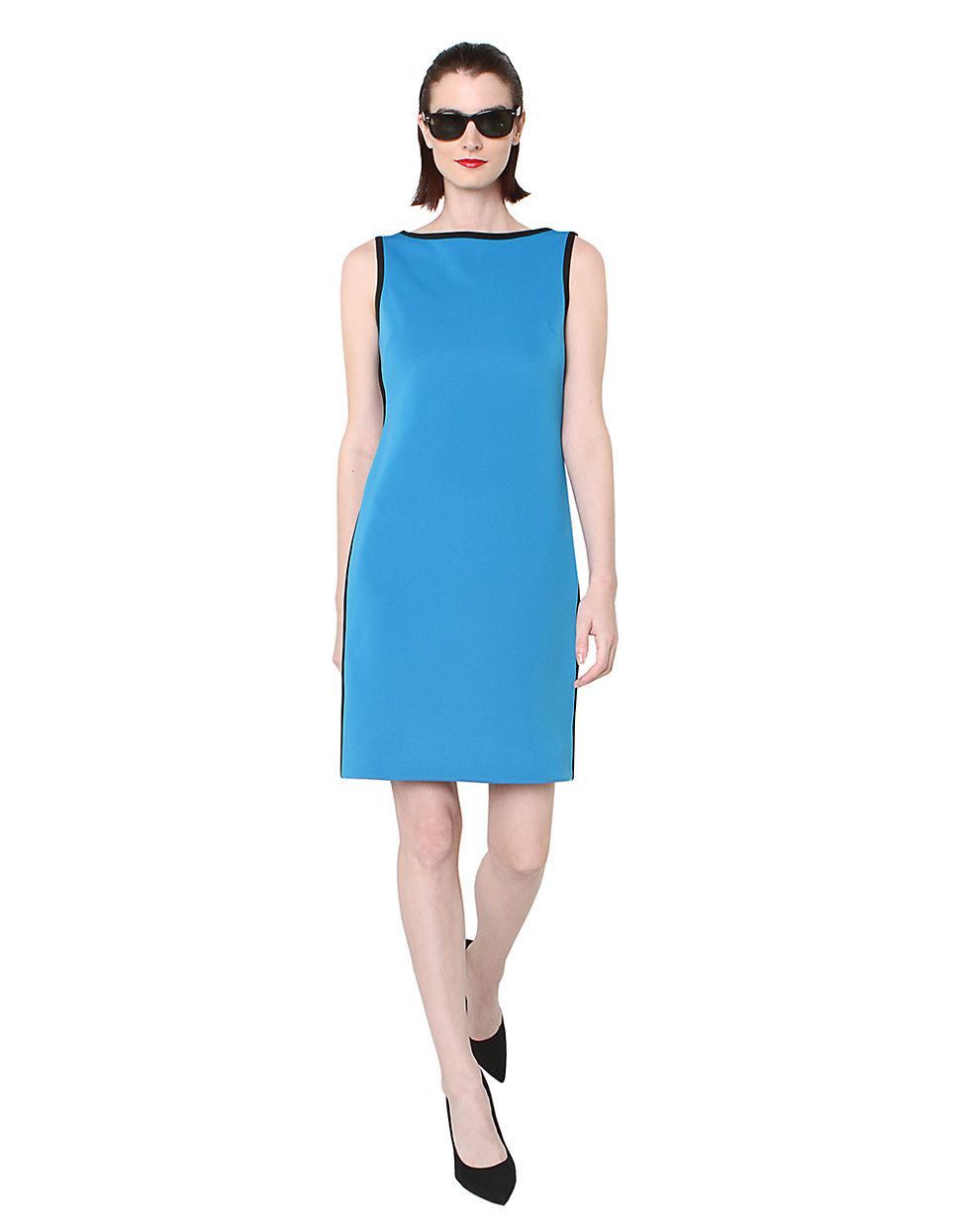 isaac mizrahi new york sleeveless dress with contrast trim