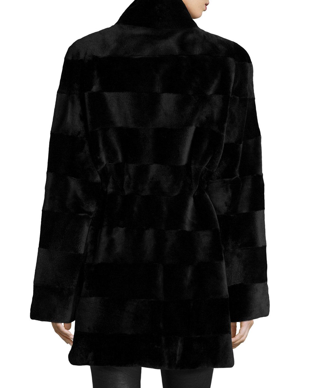 Gorski Horizontal-cut Reversible Mink Stroller Coat in Black | Lyst
