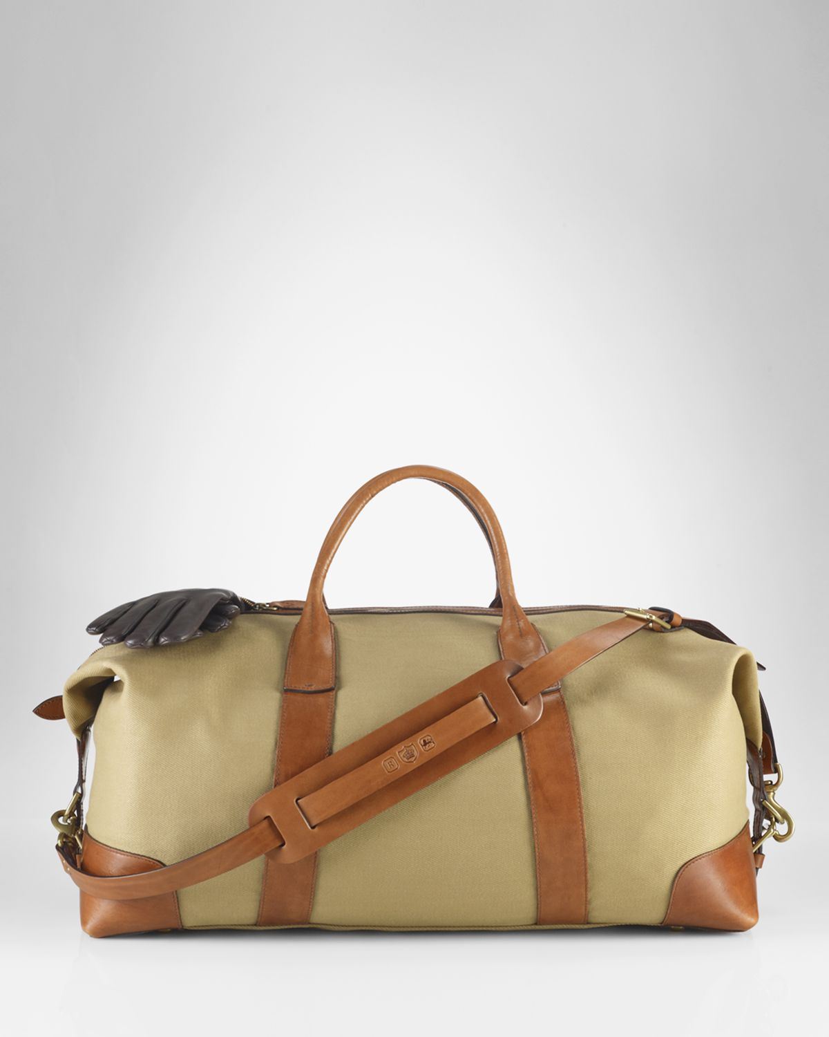 18611ce5f4c7 Lyst - Ralph Lauren Polo Canvas Duffle Bag in Natural for Men