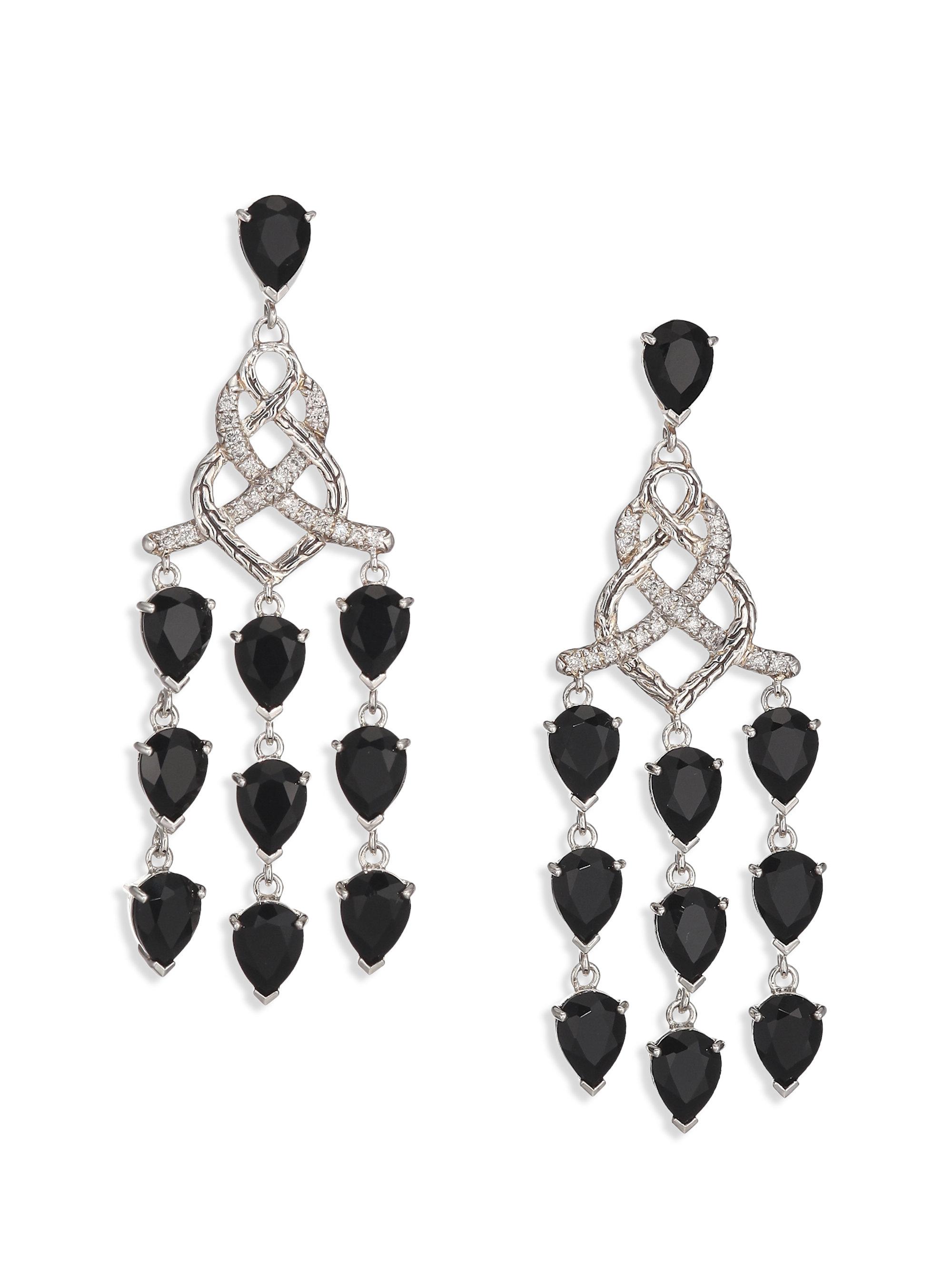 Lyst john hardy classic chain black chalcedony diamond sterling gallery arubaitofo Choice Image